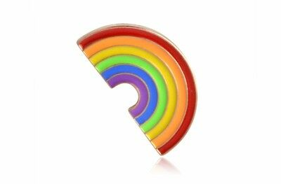 RAINBOW Enamel PIN Badge Lapel Brooch Fashion Gift Jewellery Hat PN16