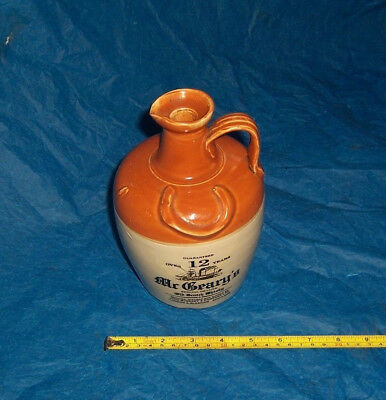 Vintage Mr Greary's whisky stoneware flagon/jug John McGreary & Company Ltd
