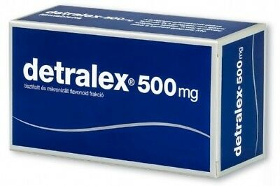 DETRALEX 500mg N30 -Varicose Vein-Heavy Legs-Hemorrhoids-UK stock