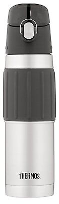 Thermos Vacuum Insulated 18 Ounce Stainless Steel Hydration Bottle, Stainless