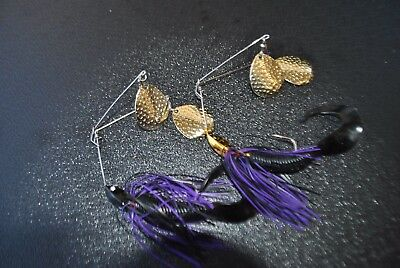 2 X Spinnerbaits Twin Arm Murray Cod & Yellow Belly spinner bait MUZZA'S LURES