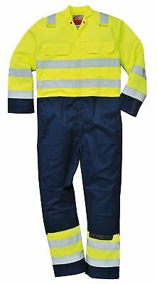 Portwest Hi Vis Anti-Static Bizflame Pro Coverall Overall Welding Resistant BIZ7