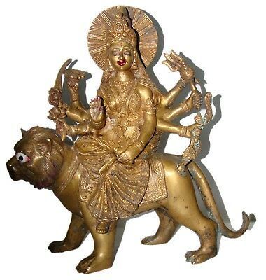 A Statue of Goddess of Power Deity Durga Parvati wife of Lord Shiva INDIA