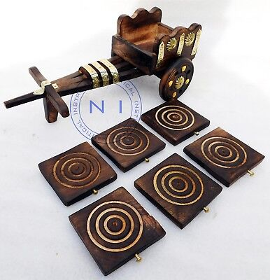 Vintage Wooden Antique Tea Cup Trays - Platters Plate Dish Victorian Style