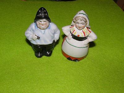 Saliere Et Poivriere Couple Pecheur Et Poissoniere Salt And Pepper