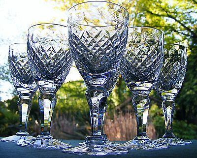 "Beautiful Set Of 6 Royal Brierley ""henley"" 4 3/4"" Port Wine Or Sherry Glasses"