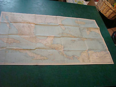 Original NATIONAL GEOGRAPHIC MAP: 1934 MEXICO, CENTRAL AMERICA & WEST INDIES
