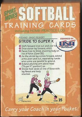 SOFTBALL TRAINING CARDS with HOME PRACTICE LOG – SPORT MOVES
