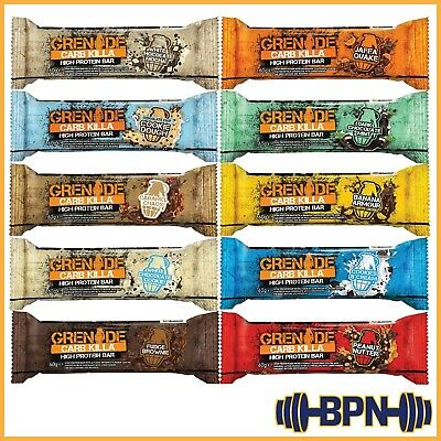 Grenade Carb Killa -  6 to 36 x 60g High Protein Bars - VARIETY BOX - Best Price