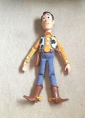 "Disney Pixar Toy Story 'Pull String Woody' 15"" Soft Toy Plush- Working- Read De."
