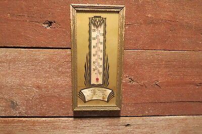 Vintage Advertising STOLLER SEEDS thermometer PH.28 reverse paint, Paulding,Ohio