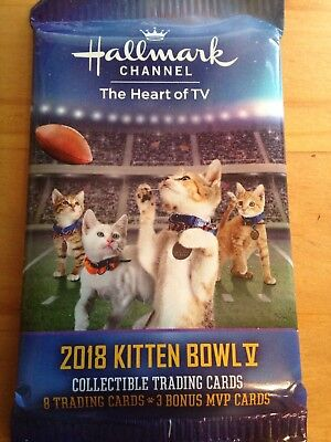 2018 Kitten Bowl V Collectible Trading Cards From Super Bowl 52 Hallmark 8+3 MVP