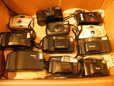 Lot of 11 film cameras Some of them work, some don't.