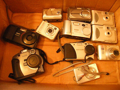 Lot of 11 digital cameras Some work, some don't