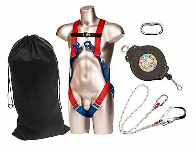 Portwest Industrial Kit Fall Arrest Height Safety Harness Lanyard Work FP63