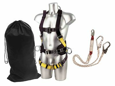Portwest Scaffolding Kit Fall Arrest Height Safety Harness Lnayard Work FP64