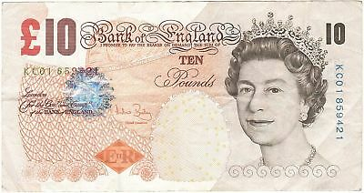[#269925] Banknote, Great Britain, 10 Pounds, 1999-2000, 2004, KM:389c