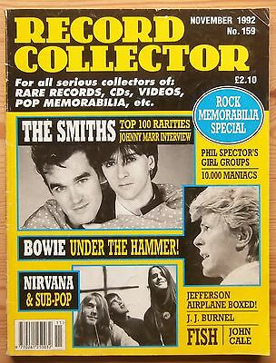 Record Collector Nov 1992 #159 The Smiths Nirvana J.j. Burnel Fish Rock Memorab