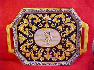 Antique Desvres n Quimper Faience Majolica platter tray, fm614 GREAT GIFT IDEA!!