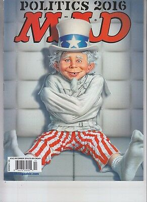 Donald Trump Hillary Clinton Mad Magazine December 2016 No Label Politics