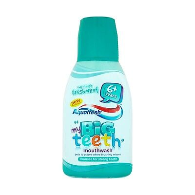 Aquafresh 300ml Big Teeth Mild Minty Flavour Mouthwash