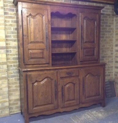 French 19th century Solid Oak Dresser In Good Condition. Delivery Available.