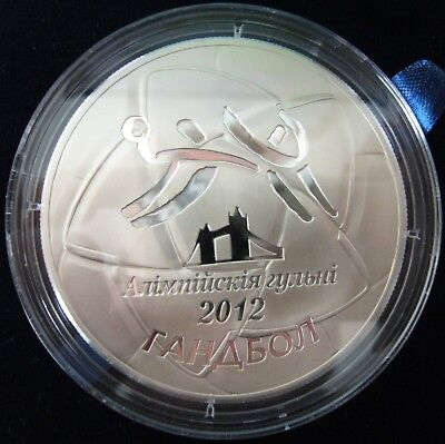 Belarus 100 Rubles 2009 The 2012 Olympic Games Handball 5 Oz Silver Proof