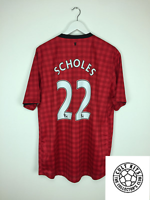 Manchester United SCHOLES #22 12/13 Home Football Shirt (XL) Soccer Jersey