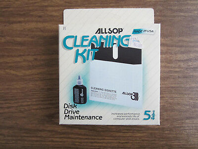 5 ¼ 5.25 Floppy Drive Cleaner Cleaning Kit Allsop USA Made