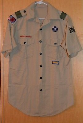 Vintage Men's Small 14-14 1/2 Boy Scout SS Official Shirt Made in USA