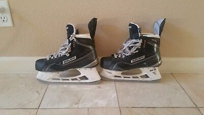 Used Bauer Supreme MX3 Pro Stock Ice Hockey Skates Size 7.5 D