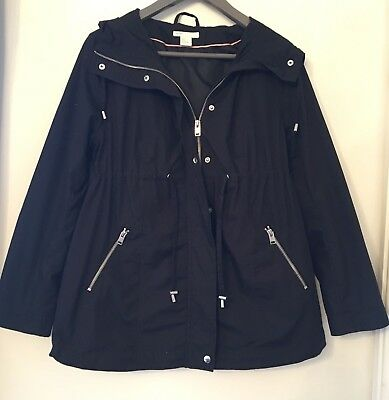 Ladies maternity coat size 10 H&M mama range black