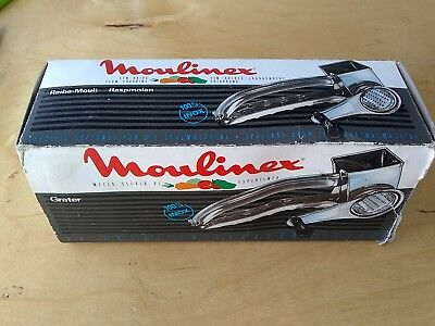 VINTAGE Moulinex Mouli Grater With 1 Drum - New In Box #456