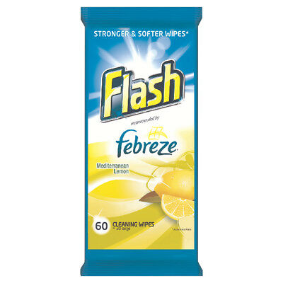 Flash Strong Weave Lemon Cleaning Wipes (Pack of 60) 5413149937062