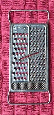 *all In One* Metal Food Grater ~ Great Vintage Tin Kitchen Utensil Antique