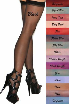 Sheer Sexy Thigh Hi High Stockings Women Fashion Hosiery Nylons Plus Size Hose