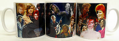 David Bowie Mug Collage David Bowie Tribute Ceramic Mug Hand Decorated in UK