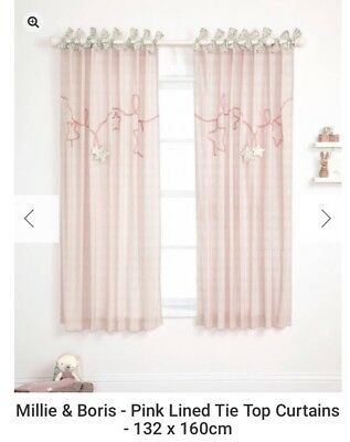 Millie & Boris Mamas And Papas Curtains Pink Girl Beautiful