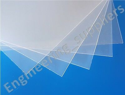ViPrint Transparent Clear 0.8mm Thick Polypropylene Plastic Sheet A5, A4 & A3