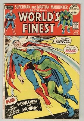 World's Finest #212 June 1972 VG 52-page giant – Martian Manhunter