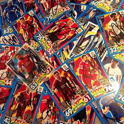 match attax 2017-2018 signed cards