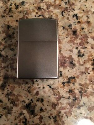Zippo Lighter Brushed Chrome  Stainless Windproof Classic Theme