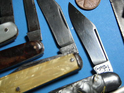 Vintage Folding Pocket Knives Lot of 11 scout knife old knife lot