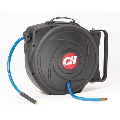 """Campbell Hausfeld Air Reel with Retractable 50 Foot Hose, 3/8"""" ID, Mountable, Sw"""