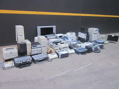 Bulk Lot Pallet Of Computers, Printers,faxes, Keyboards, Mice, Monitor, Tv