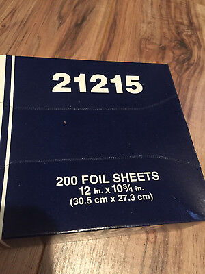 21215 INTERFOLDED FOIL SHEETS 12 x 10 3/4 MEDALLION BAKING WRAP