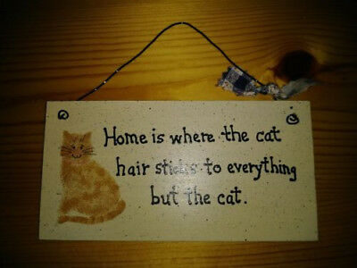 Small Handmade Wood Sign for Cat Lovers
