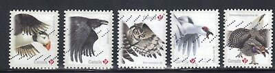 CANADA 2016  #s 2930-2934 BIRDS OF CANADA SET OF 5 USED STAMPS