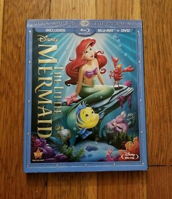 The Little Mermaid (Blu-ray/DVD, Diamond Edition) with slipcover Disney