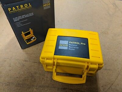 AEGIS Patrol CZ5001 Portable Appliance Tester with NATA Calibration